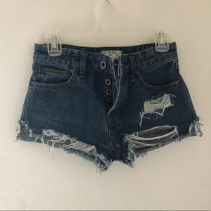 Free People Distressed Denim Short